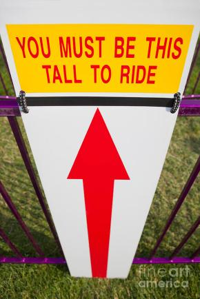 You Must Be At LEAST This Tall to Get On ThisRide